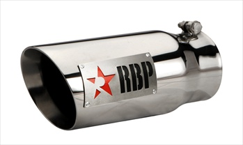 "RBP TIP 4"" TO 5"" X 12""L SS DOUBLE WALL TIP, TWO TONE LOGO AND RED STAR RBP-45122-7RD"